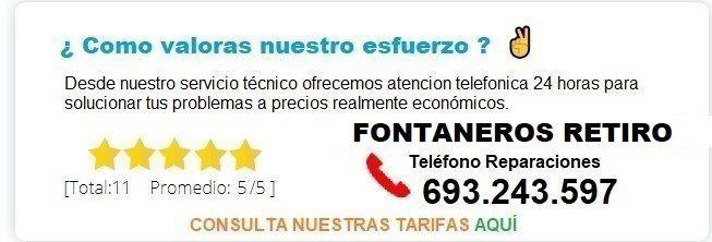 Fontanero Retiro precio